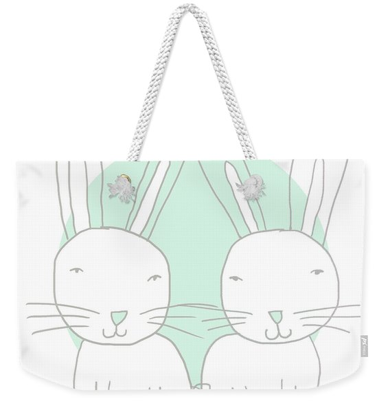 Two Bunnies- Art By Linda Woods Weekender Tote Bag