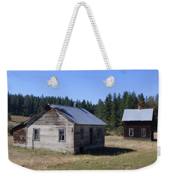 Two Cabins At Fruitland Weekender Tote Bag