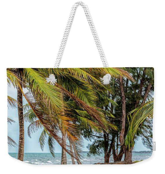Two Chairs In Belize Weekender Tote Bag