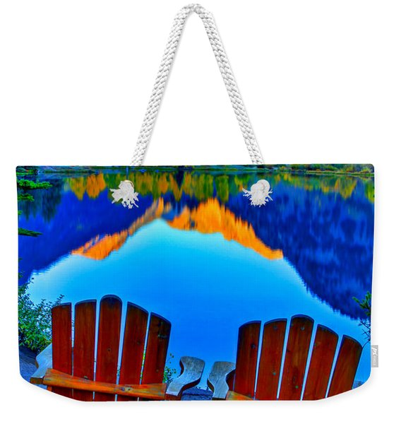 Two Chairs In Paradise Weekender Tote Bag