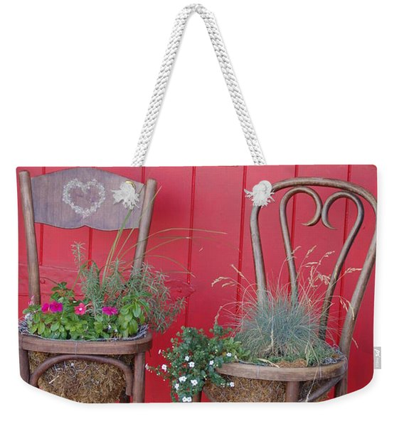 Two Chairs With Plants Weekender Tote Bag