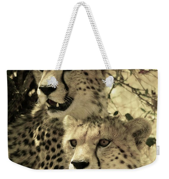 Two Cheetahs Weekender Tote Bag