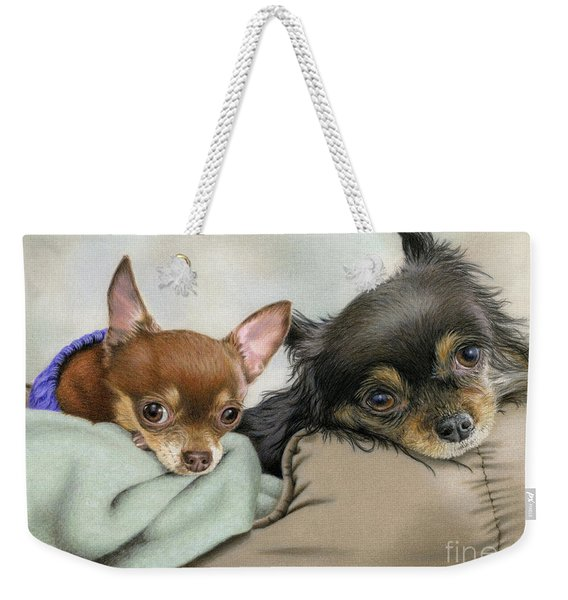 Like Two Chi's In A Pod Weekender Tote Bag