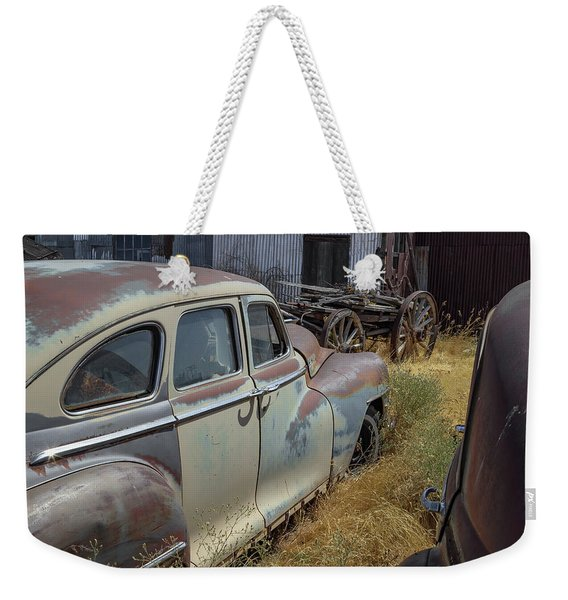 Two Chrysler's And A Wagon Weekender Tote Bag