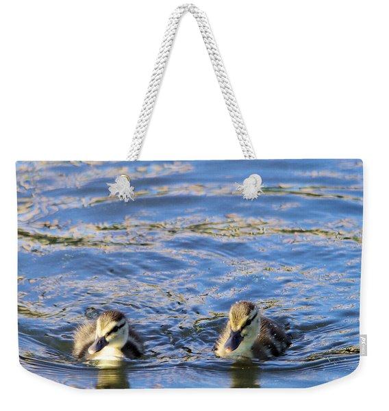 Two Ducklings Weekender Tote Bag