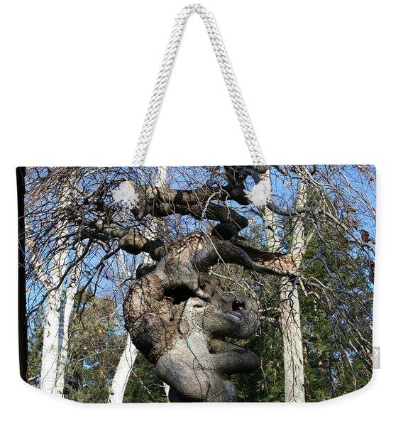 Two Elephants In A Tree Weekender Tote Bag