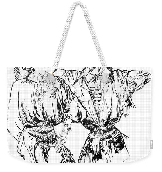 Two Fashion Girls Weekender Tote Bag