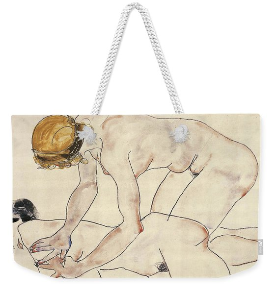 Two Female Nudes Weekender Tote Bag