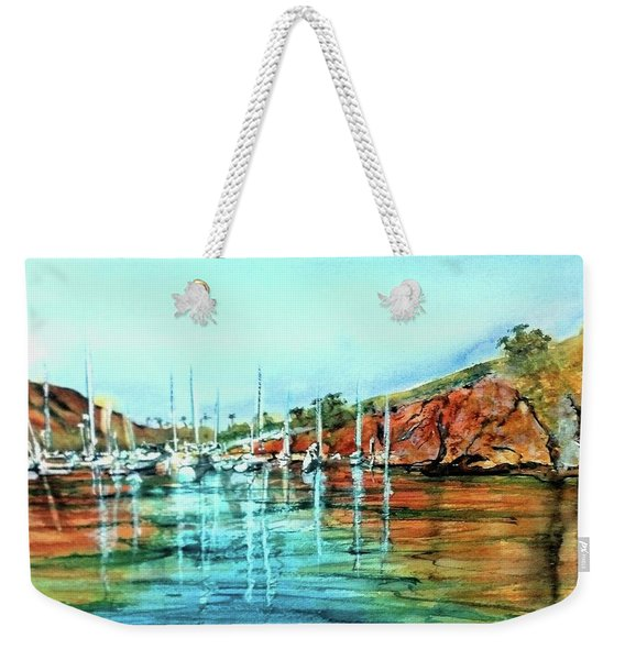Two Harbors Catalina Morning Impressions Weekender Tote Bag