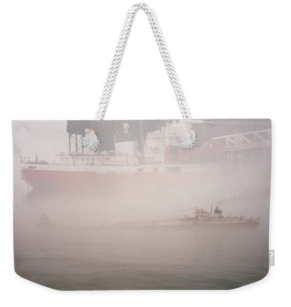 Two Harbors Fog Ship II Weekender Tote Bag