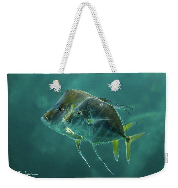 Two In Turquoise Weekender Tote Bag