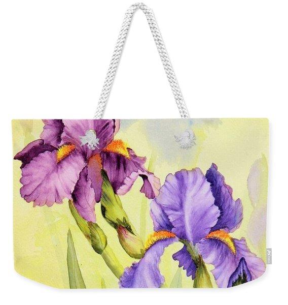 Two Irises  Weekender Tote Bag