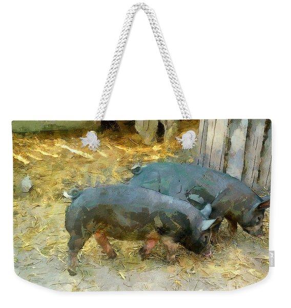Two Little Pigs Weekender Tote Bag