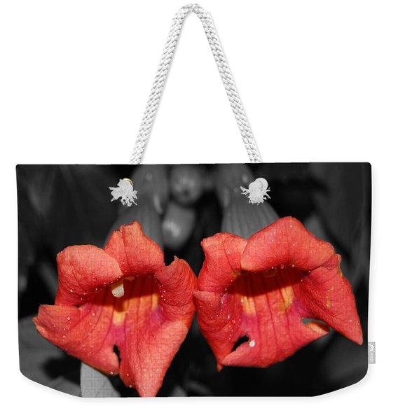 Two Of Hearts Weekender Tote Bag