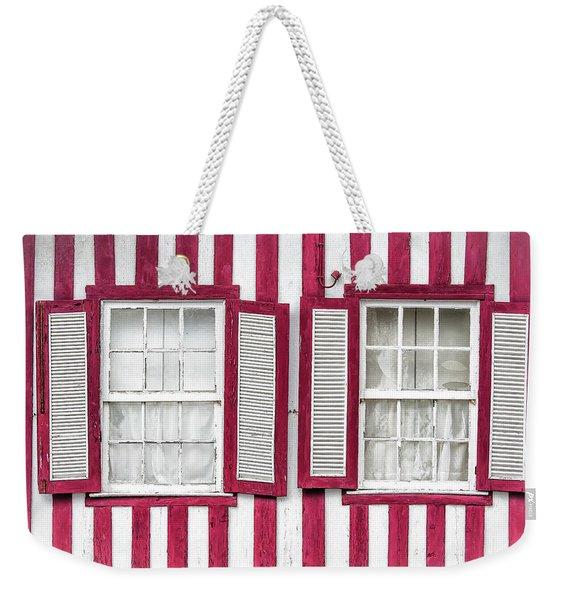 Two Old Windows Weekender Tote Bag