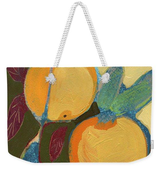 Two Oranges Weekender Tote Bag