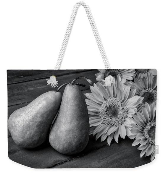 Two Pears And Sunflowers Weekender Tote Bag