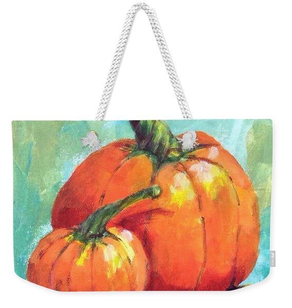 Two Pumpkins  Weekender Tote Bag