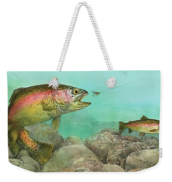 Two Rainbow Trout Weekender Tote Bag
