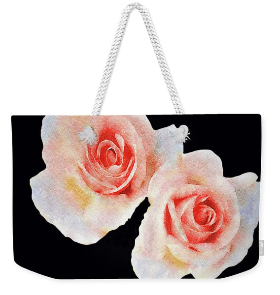Two Roses Weekender Tote Bag