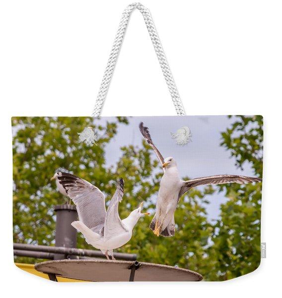 Two Seabird Fighting Weekender Tote Bag