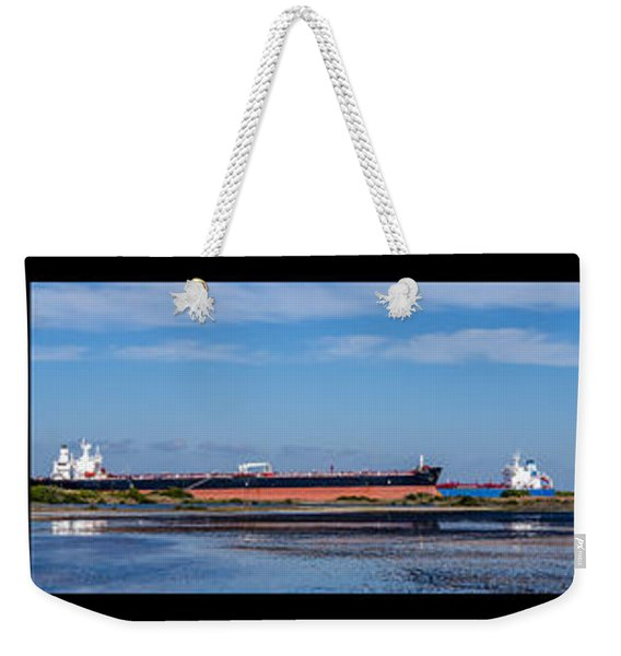 Two Ships Passing In The Day Weekender Tote Bag