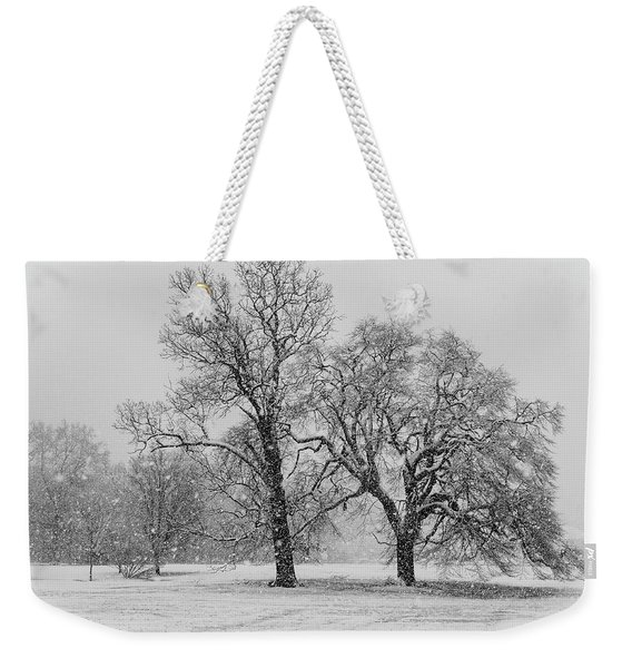Two Sister Trees Weekender Tote Bag