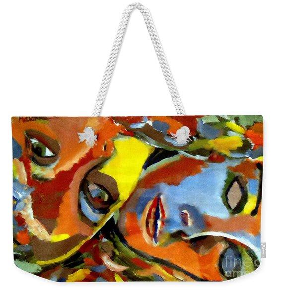 Two Souls Weekender Tote Bag