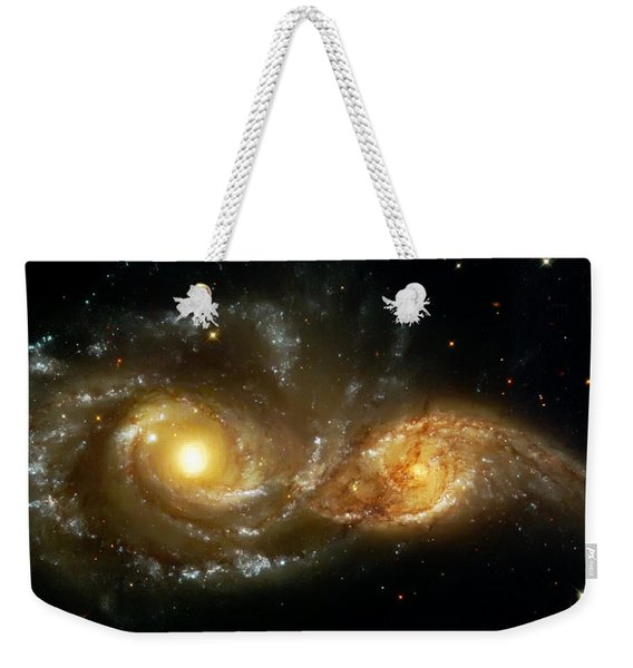 Two Spiral Galaxies Weekender Tote Bag