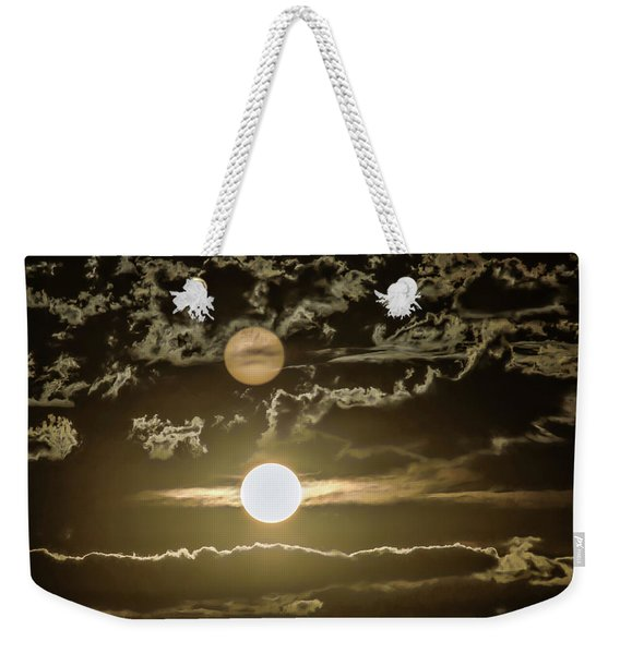 Two Suns Weekender Tote Bag
