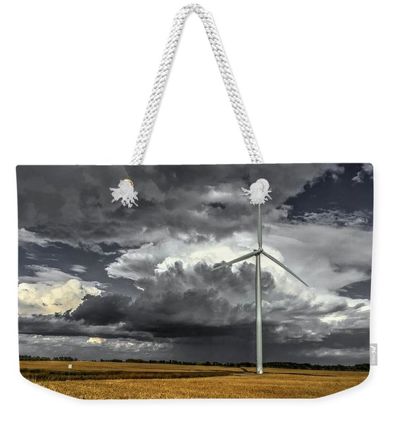 Two Tone Weekender Tote Bag