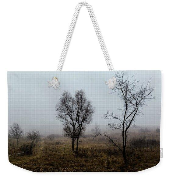 Two Trees In The Fog Weekender Tote Bag