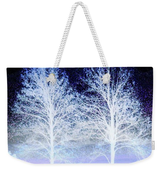Two Trees In Winter Weekender Tote Bag