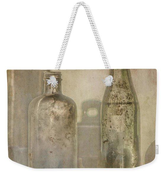 Two Vintage Bottles Weekender Tote Bag