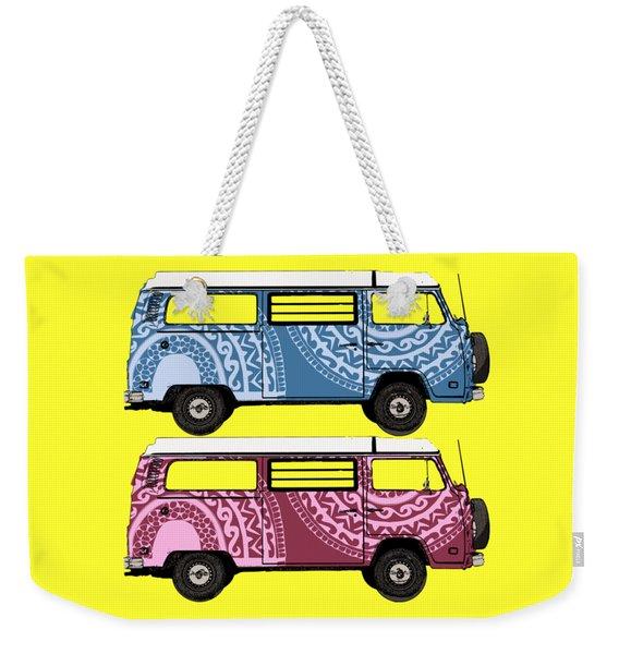 Two Vw Vans Weekender Tote Bag