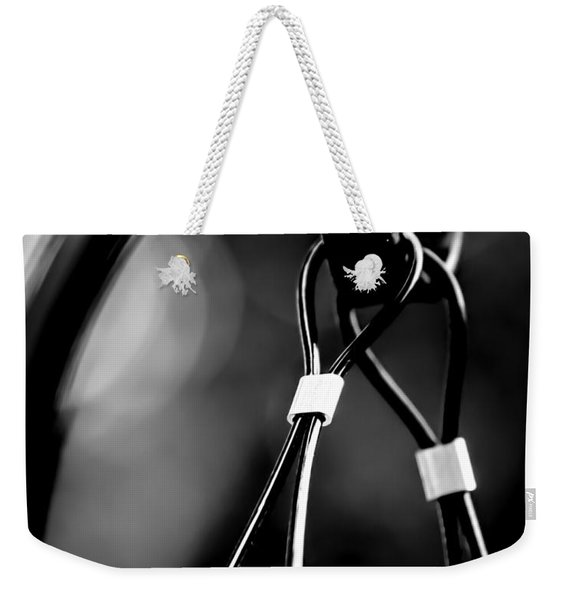 Two Wires On A Pole Weekender Tote Bag