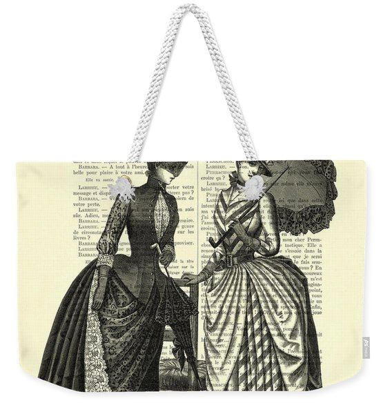 Two Women In Conversation Weekender Tote Bag