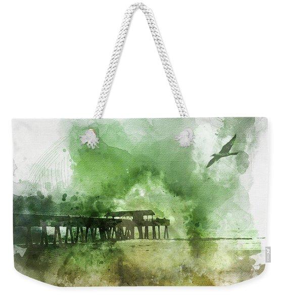 Tybee Island Pier Georgia Weekender Tote Bag