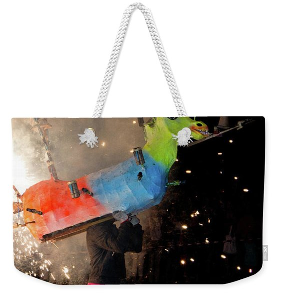 Typical Festival Plaza South Italy Weekender Tote Bag