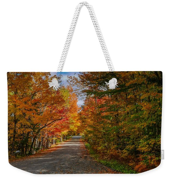 Typical Vermont Dirve - Fall Foliage Weekender Tote Bag