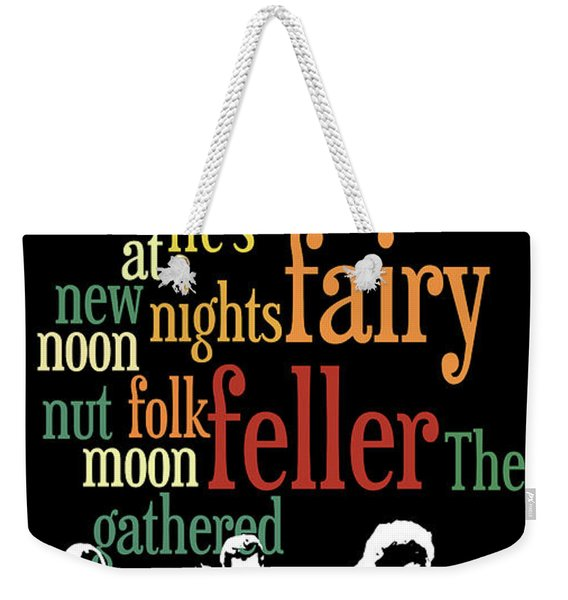 Typography. The Fairy Feller's Master-stroke. Game For Music Fans. Conversation Starter. Weekender Tote Bag