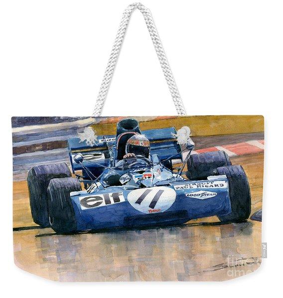 Tyrrell Ford 003 Jackie Stewart 1971 French Gp Weekender Tote Bag