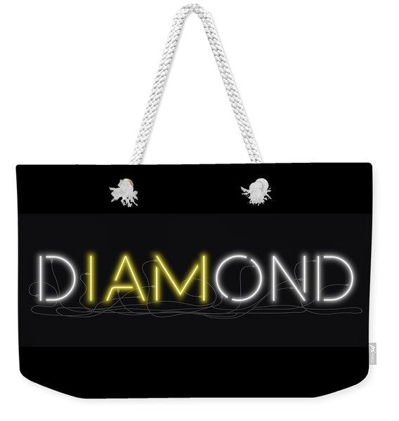 U Are Diamond - Neon Sign 2 Weekender Tote Bag