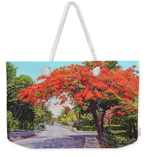 Ubs Poinciana Weekender Tote Bag