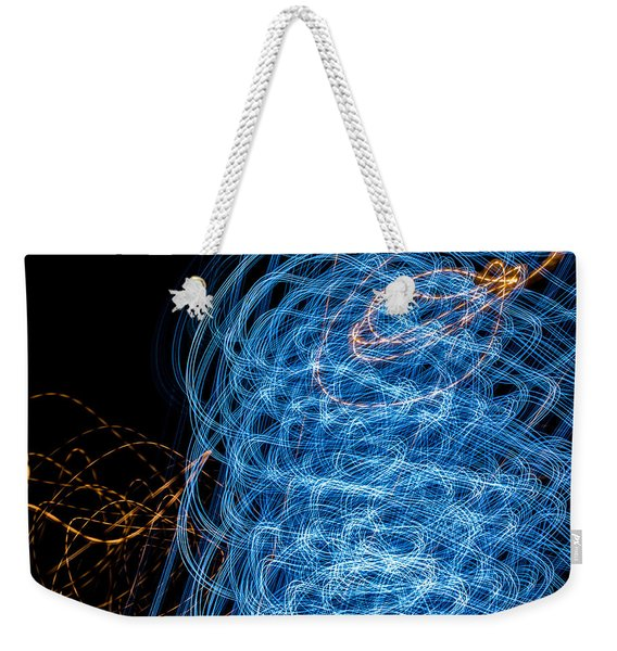 Ufa Neon Abstract Light Painting Sodium #7 Weekender Tote Bag