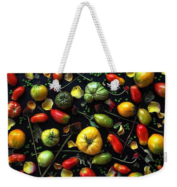 Heirloom Tomato Patterns Weekender Tote Bag