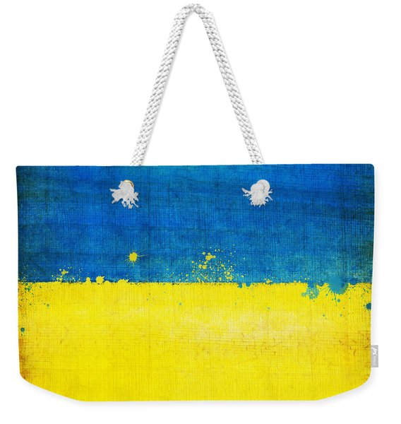 Ukraine Flag Weekender Tote Bag