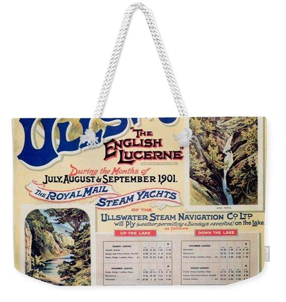 Ullswater - Great Northern Railway - Landscape Illustrations - Vintage Advertising Poster Weekender Tote Bag