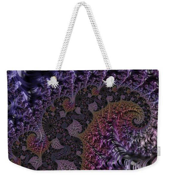 Ultra Leaf Spiral Weekender Tote Bag