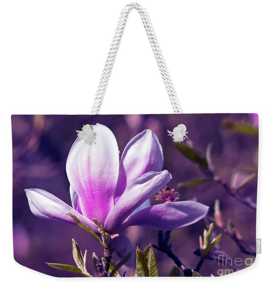 Ultra Violet Magnolia  Weekender Tote Bag
